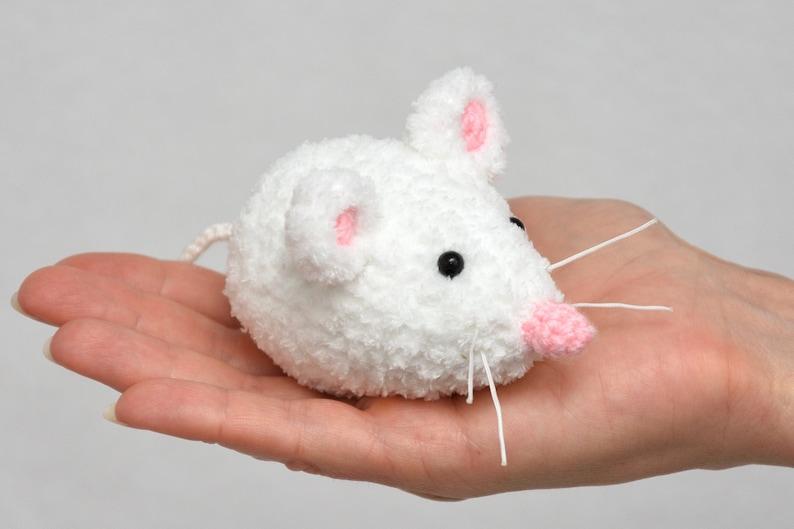 Rat Crochet Mouse toy Plush Mice Kids Gift For kids Stuffed image 0