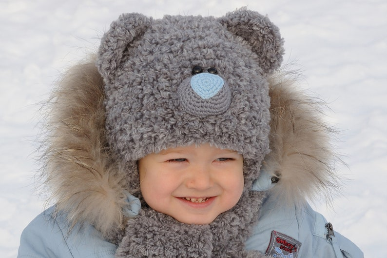 417402ab8f21a Winter Kids Hats kids bear costume Baby Bear Hat Teddy Bear | Etsy