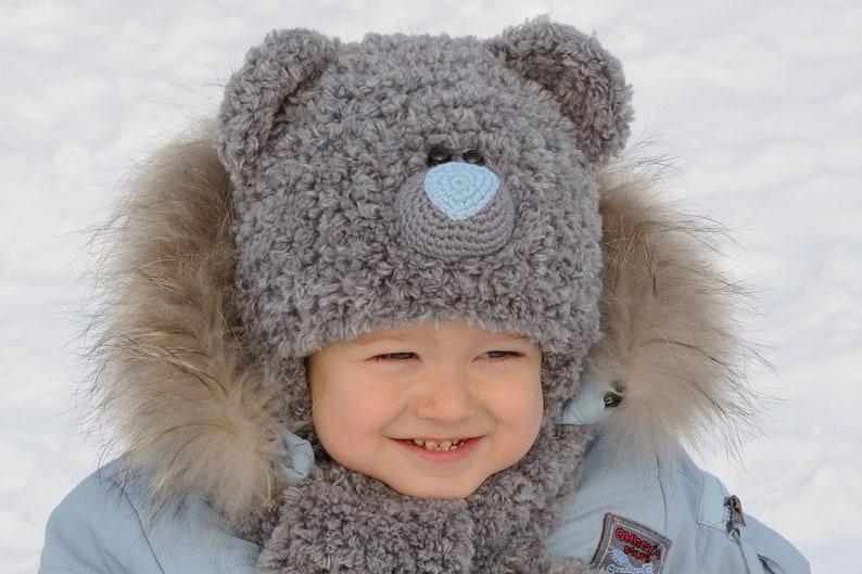 Winter Kids Hats kids bear costume Baby Bear Hat Teddy Bear  0ed6a047b0e3