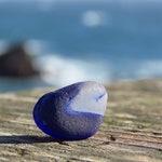 Davenport Sea Glass  - Davenport Sea Glass - California Sea Glass - Rare Sea Glass -Dark Blue Slice of Glass