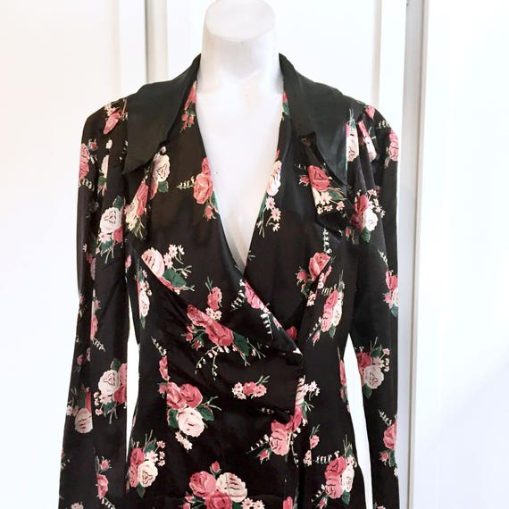 Robe Housecoat - 1940s Nightgown, House Dress, Hou