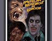 American Werewolf in London - Fan Art - Poster Size A2 Print