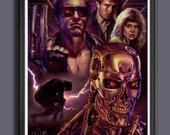 The Terminator Movie - Arnold Schwarzenegger - Fan Art - A3 Print