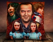 The Shining Movie - Fan Art - Jack Nichollson - (Wheres Johnny) - Wendy - Danny - The Twins - Soft To Touch Plush Cushion Cover