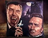 Hammer Horror Dracula 1958 - Peter Cushing - Christopher Lee - Soft Plush Cushion Cover