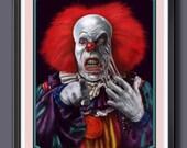 iT Pennywise Clown Melting Face Fan Art - A3 Size