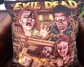 Evil Dead Cult 80's Horror - Bruce Campbell - Soft Plush Cushion Cover