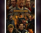 The Land Of The Dead - George A Romero 2005 Zombie Movie Art Inspired  -  A5 Size Greeting Card