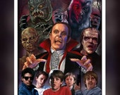 The Monster Squad 1987 Movie - Universal Monsters - Fan Art - A 5 Size Greeting Card