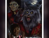 Michael Jackson Thriller - A 5 Size Greeting Card