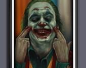 The Joker 2019 Movie - Fan Art -   A3 Print
