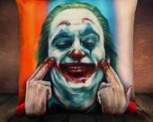 The Joker 2019 Joaquin Phoenix Fan Art - Soft Plush Cushion Cover