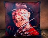 A Nightmare On Elm Street ( Freddy Kreuger) Robert Englund - Art Inspired - Soft Plush Cushion Cover