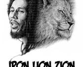 Bob Marley -A3 Size Poster Print