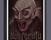 Nosferatu (A Symphony Of Horror) 1922 - Fan Art Movie Print - A3 Size