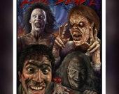 Evil Dead 2 Fan Art - A5 Size Greeting Card
