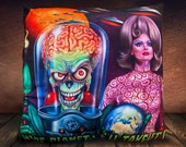 Mars Attacks Movie - Fan Art - Soft To Touch Plush Cushion Cover