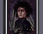 Edward Scissorhand's - Johnny Depp - Fan Art Movie Print - A 3 Size