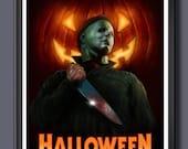 Halloween Michael Myers Fan Art - A3 Print