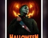 Halloween Michael Myers Fan Art - A5 Size Greeting Card