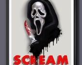 Scream Fan Art - A3 Print