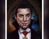 Bela Lugosi  Dracula - A 5 Size Greeting Card