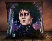 Edward Scissorhands - Johnny Depp - Fan Art - Soft Plush Cushion Cover