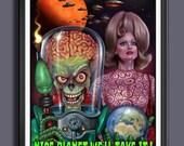 Mars Attacks Movie - Fan Art -Tim Burton - Martians - First Lady Marsha  Movie Print -  A3 Size