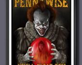 Pennywise Clown 20179 (Georgie) Fan Art-  A2 Print