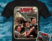 Jaws Art Inspired -  T-sh...