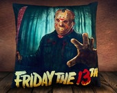 Friday The 13th Jason Voorhees - Fan Art - Soft To Touch Plush Cushion Cover