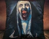 The Nun - Valek - Fan Art Movie 2018 - Soft Plush Cushion Cover