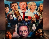 Shaun Of The Dead Movie Simon Pegg Nick Frost - Art - Inspired - Soft Plush Cushion Cover