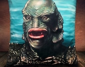 Creature From The Black Lagoon - Gill-Man - Soft Plush Cushion Cover