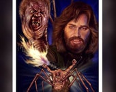 The Thing Kirt Russel 1982 A5 Size Greeting Card