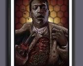 Candyman - Tony Todd -  Fan Art - A3 - Art Print
