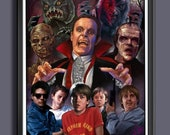 The Monster Squad Movie 1987 - Universal Monsters - Fan Art -  A3 Art Print