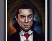 Bela Lugosi Dracla - Universal Monsters  Fan Art - A3 Print