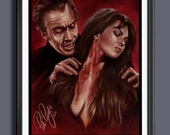 Dracula AD 1972 Christopher Lee - Caroline Munroe - Fan Art-  A3 Print