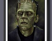 Frankenstein - Boris Karloff 1931 - Universal Monsters Fan Art - A3 Print