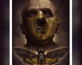 The Silence Of The Lambs, Anthony Hopkins, Hannibal Lector, Death Moth  -  A5 Size Greeting Card