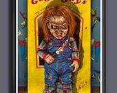 Chucky Doll Out Of Box Fan Art - A3 Print