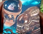 Alien 1979 Movie Inspired Sigourney Weaver  Ellen Ripley - Alien - Soft Plush Cushion Cover