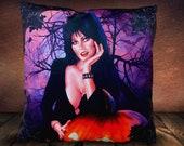 Elvira Mistress Of The Dark Pumpkin - Soft Plush Cushion Cover