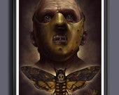 The Silence Of The Lambs Movie - Doctor  Hannibal Lector / Death Moth/ Anthony Hopkins - Fan Art Movie Print - A 3 Size