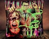 Re-Animator Cult 80's Horror Movie  Herbert West - Soft Plush Cushion Cover
