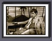 Scarface - Tony Montana - Al Pacino -A3 Size Poster Print 2