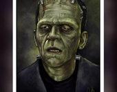 Frankenstein - Boris Karloff 1931 - A 5 Size Greeting Card