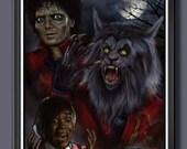 Michael Jackson Thriller Fan Art - A3 Print