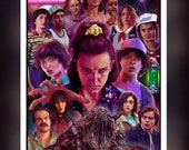 Stranger Things Series 3  - A 5 Size Greeting Card